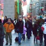 turista tra la folla