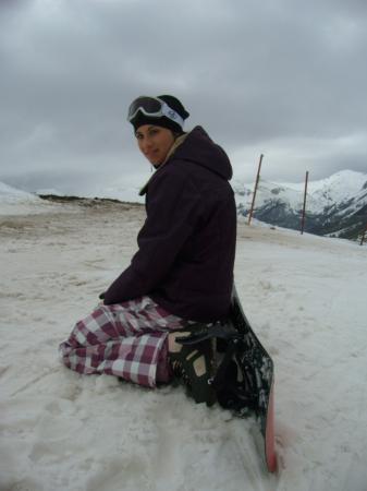 approccio con lo snowboard